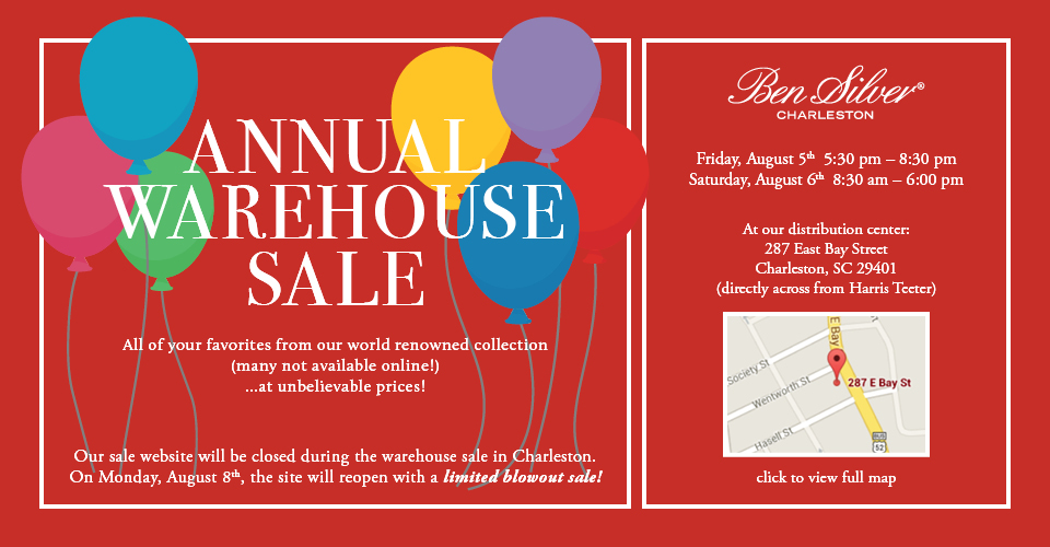 Ben Silver 2017 Warehouse Sale!
