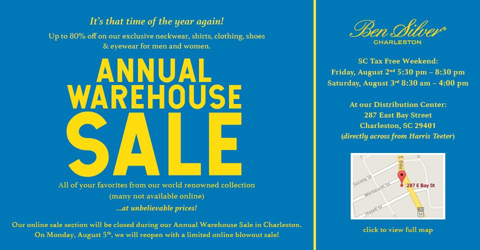 Ben Silver 2018 Warehouse Sale!