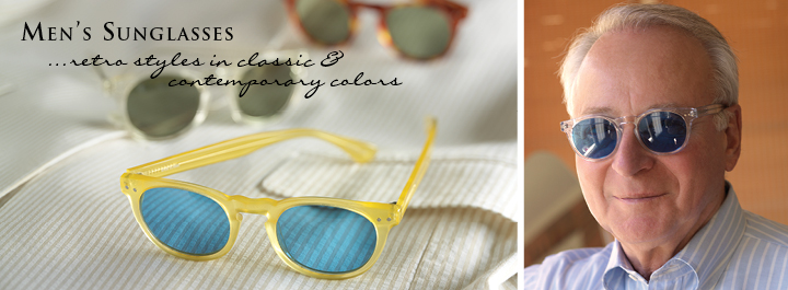 Men's Sunglasses...retro styles in classic and contemporary colors