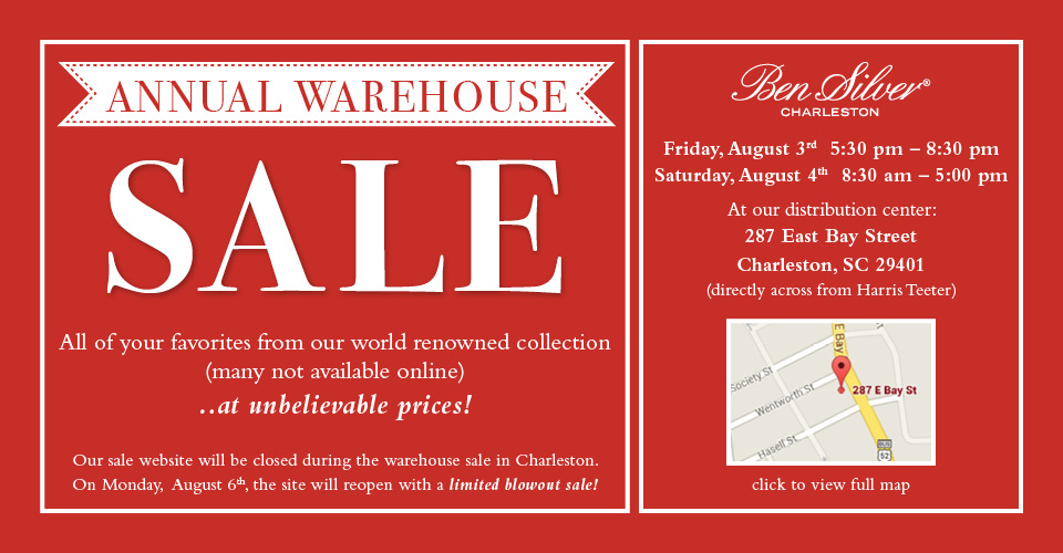 Ben Silver 2018 Warehouse Sale!